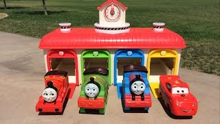 Thomas n Friends Disney Cars McQueen Egg Surprises Percy James Toby
