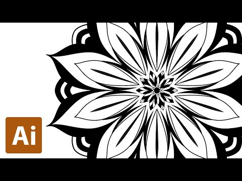 Create Mandala with Pen tool (2) | Illustrator | Tutorial thumbnail