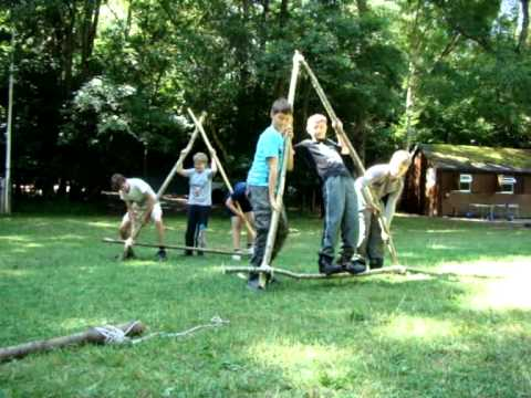 1st Crawley Scouts Summer Camp 2013. The A Frame Race - YouTube