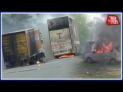 Vehicles Parked At Police Station Set On Fire In MP's Mandsaur