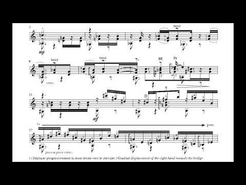 Dušan Bogdanović - 12-Note Samba for Guitar (Score video)