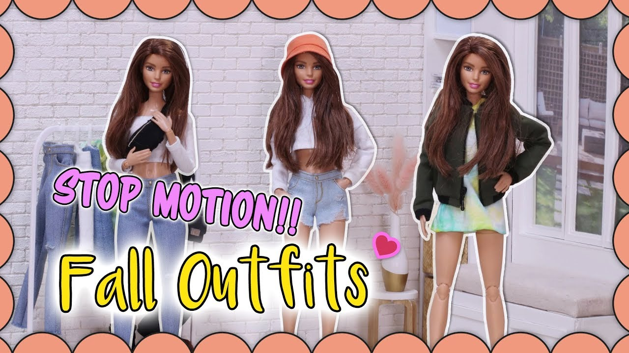 [Stop motion] Fall Outfits for barbie dolls💗