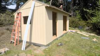 Jason And Mike Building Our New Tuff Shed - Time Lapse