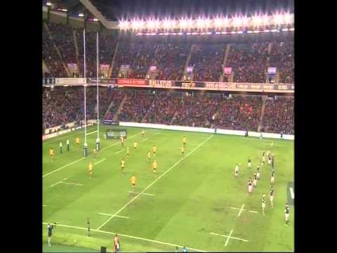 Single camera footage of the match between Scotland and Australia.