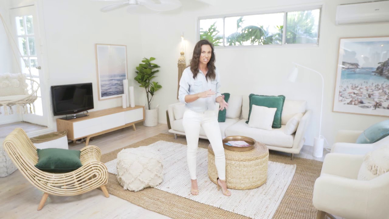 Living Room Reveal - Zanui & Three Birds Renovations - YouTube