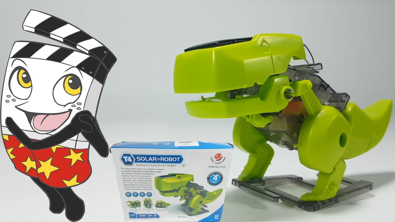 Dinosaur solar robot 4 in 1kidsscience education dinosaur solar robot 4 in 1kidsscience educationspeed video solutioingenieria Gallery
