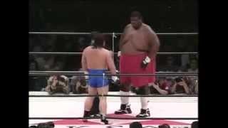 Человек гора против каратиста Emmanuel Yarborough vs Tatsuo Nakano