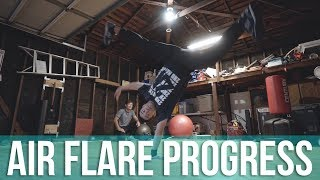 Air Flare Progress After 3 Months | Learning Air Flares At Age 31