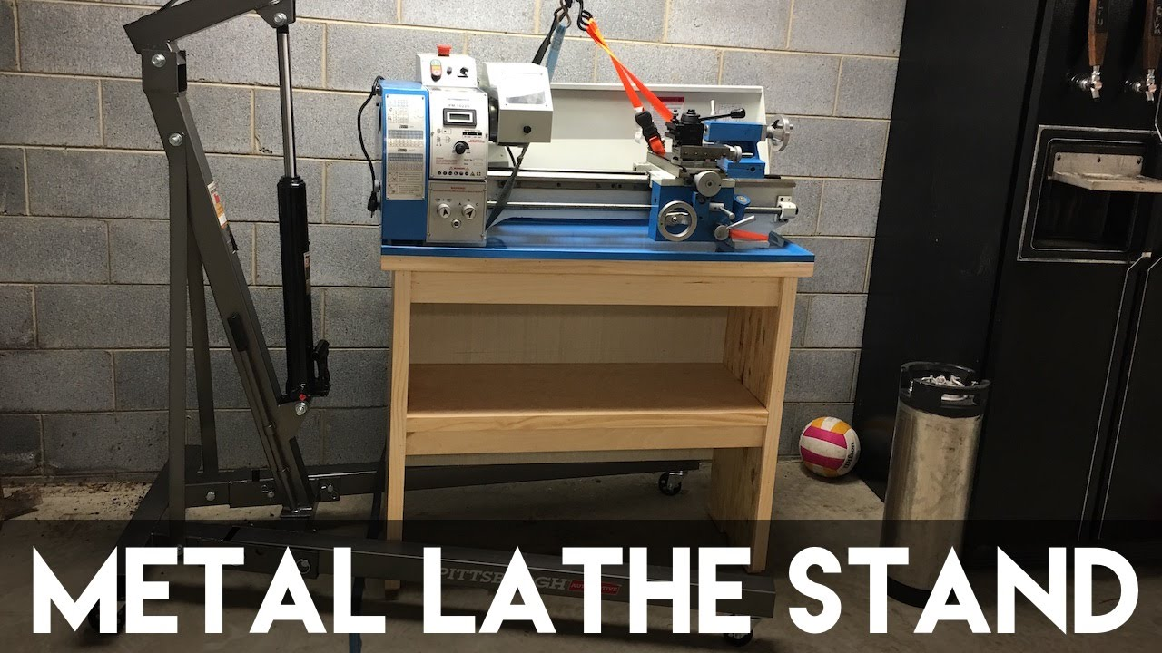 How To Build A Diy Lathe Stand Crafted Workshop Youtube