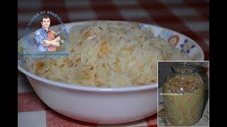 Как правильно квасить капусту в банке  Вкусная и хрустящая капуста