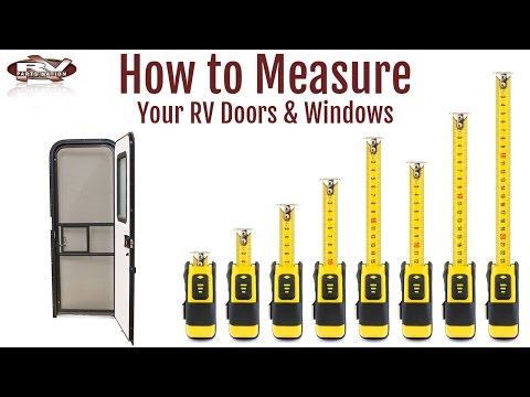 How To Measure your RV Windows and Doors - YouTube