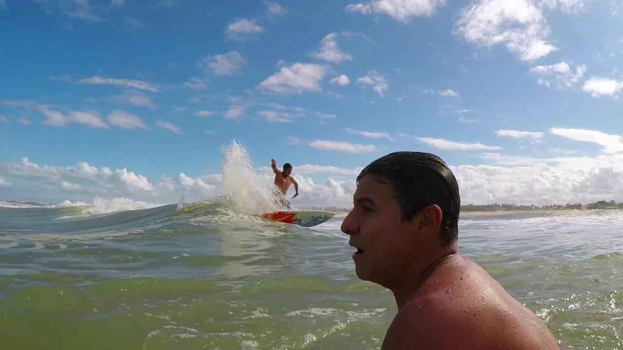 Imagens da perfeição do Farolzinho, isso mostra que Sergipe tem onda!