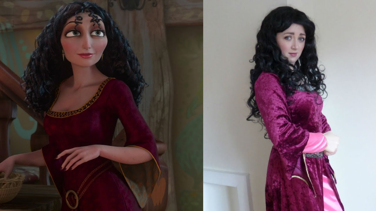u0027Tangledu0027 Mother Gothel Outfit and makeup - YouTube  sc 1 st  YouTube : disney tangled rapunzel costume  - Germanpascual.Com