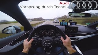 2017 Audi A4 3.0 V6 TDI | TOP SPEED on German Autobahn ✔