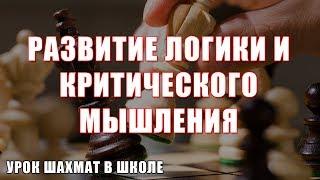 Развитие логики и критического мышления на уроках шахмат в современой школе. ВЕБИНАР