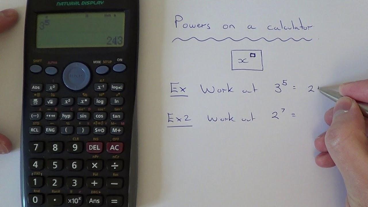 the power key on a casio scientific calculator