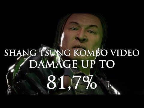 Mortal Kombat 11: Shang Tsung Kombo Video | Damage up to 59,8% + Bonus 81,7% | Tournament Variations