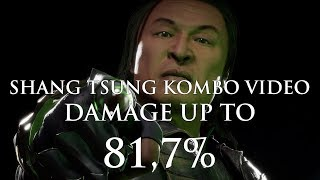 Mortal Kombat 11: Shang Tsung Kombo Video | Damage up to 59,8% + Bonus 81,7% | Tournament Variations