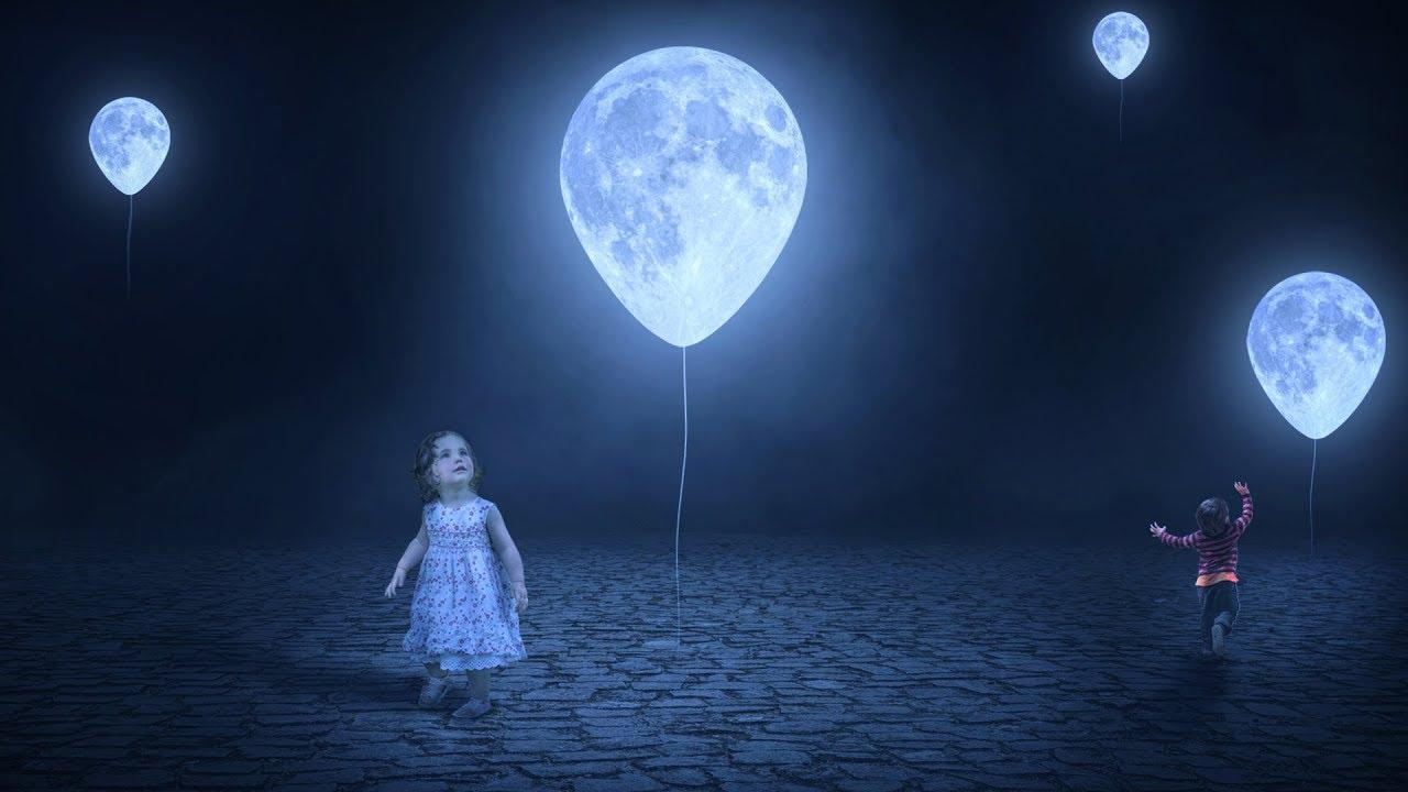 moon balloon photoshop manipulation tutorial photo effects dreamy