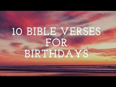 10 Bible Verses for Birthday Cards YouTube – Christian Birthday Verses for Cards