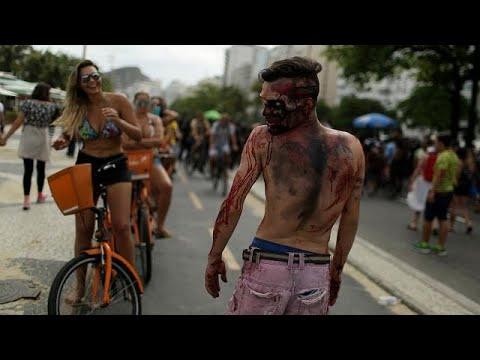 Zombie-Parade an Copacabana: