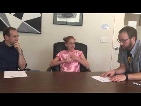 Talking with Make A Difference Food Pantry's Kenzie