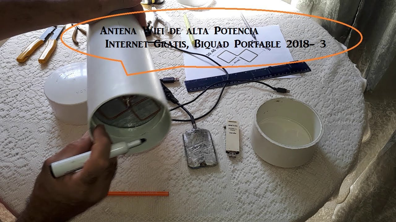 Antena wifi de alta potencia internet gratis biquad for Antena 3 online gratis