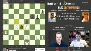 Blitz Death Match 37: GM Ponomariov vs GM Vallejo Pons Overtime!