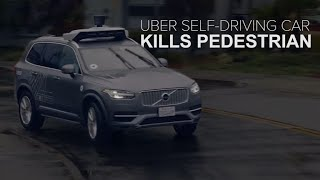 Uber self-driving car kills a pedestrian (CNET News)