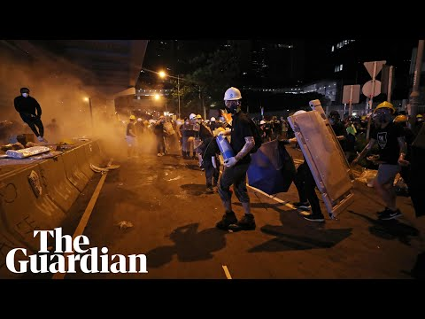 Police take control of Hong Kong government  - watch