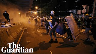 Police take control of Hong Kong government HQ - watch live