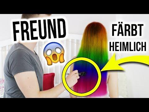MEIN FREUND FÄRBT HEIMLICH MEINE HAARE BUNT 😱 Ich weiß NICHT, was er macht | XLAETA