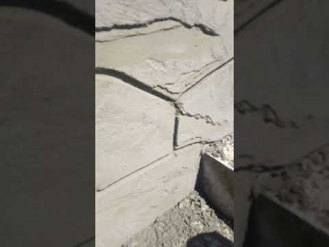 фактура под  дикий камень своими руками, результат проделанной работы