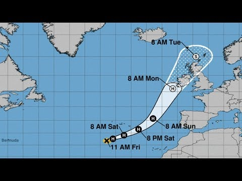 HURRICANE OPHELIA UPDATE - Ireland Landfall - Storm Surge and Flooding