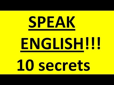 How to start speaking English -10 secrets. How to Speak English fluently. English lessons