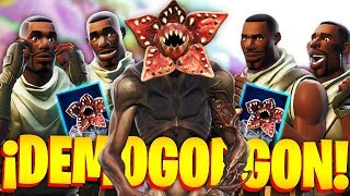 CARAMELIes ARE FIGHTD by THE NEW SKIN of DEMOGORGON in FORTNITE!.. 🔥😱