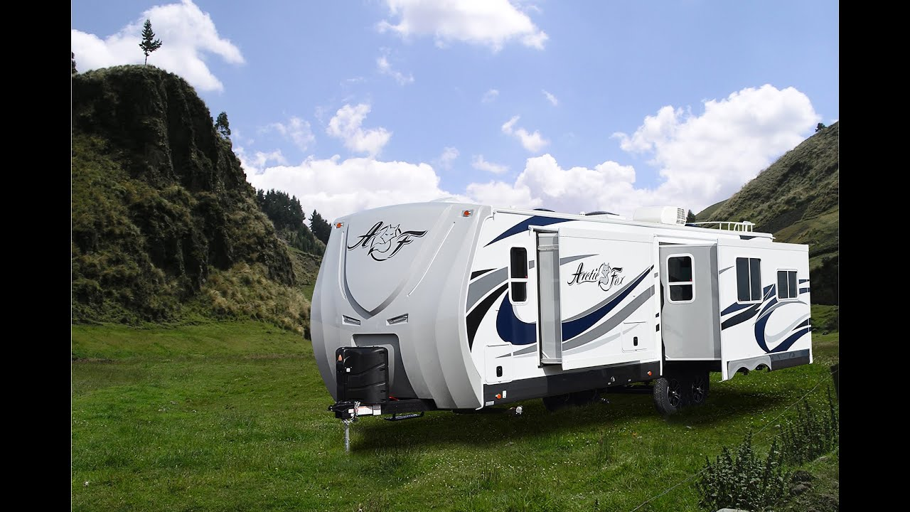 Brilliant Quick Tour Of The Arctic Fox Silver Fox 32A Travel Trailer - YouTube