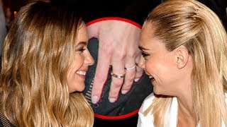 UM ASHLEY BENSON AND CARA DELEVINGNE ARE ENGAGED... i think