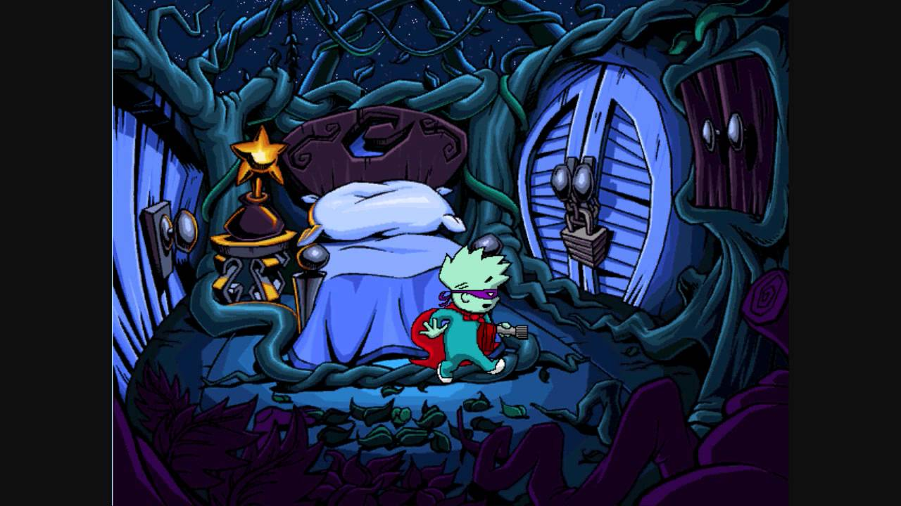 Pajama sam in no need to hide when it dark outside ...