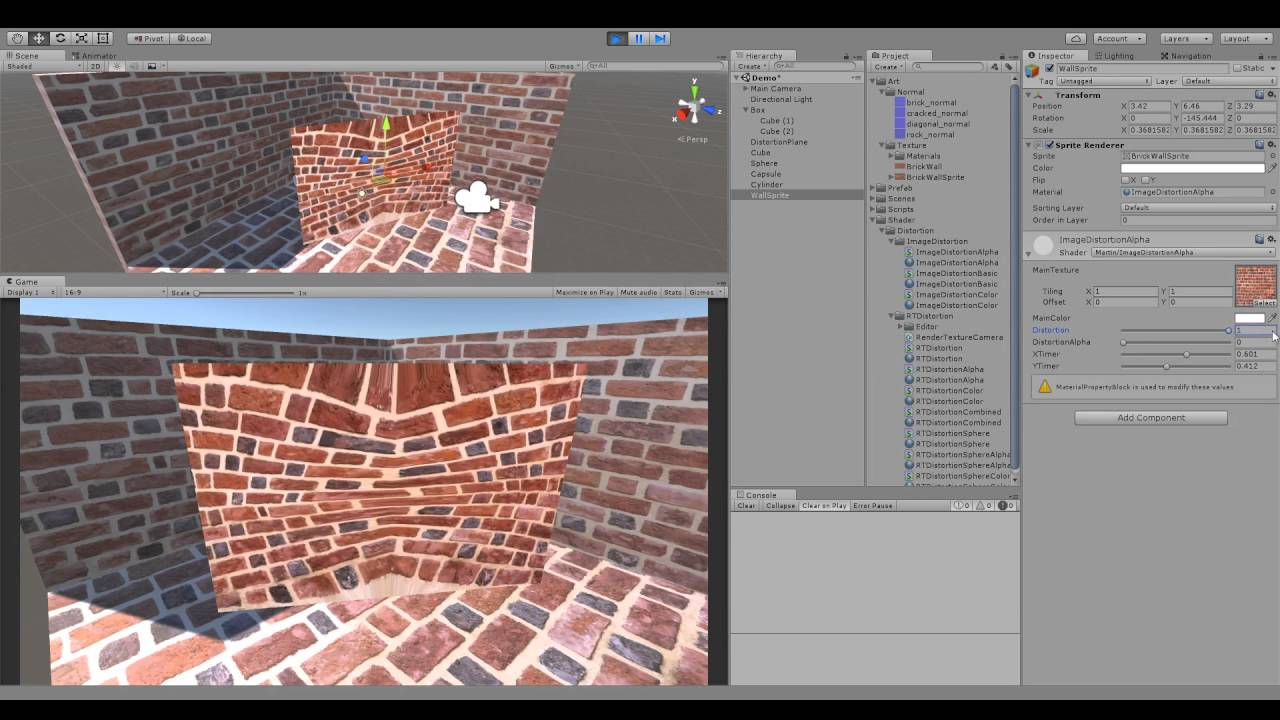 Image distortion shader Unity3D