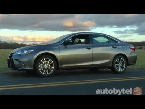 2017 Toyota Camry Hybrid Se Test Drive Video Review
