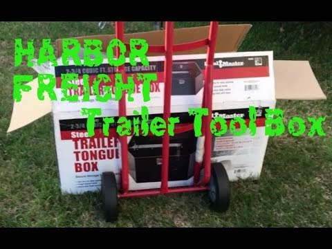 Harbor Freight Trailer Tongue Tool Box Install