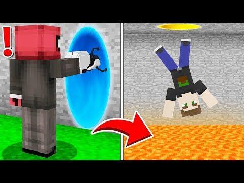 PORTAL SİLAHIYLA ARKADAŞIMI TROLLEDİM! 😱 - Minecraft