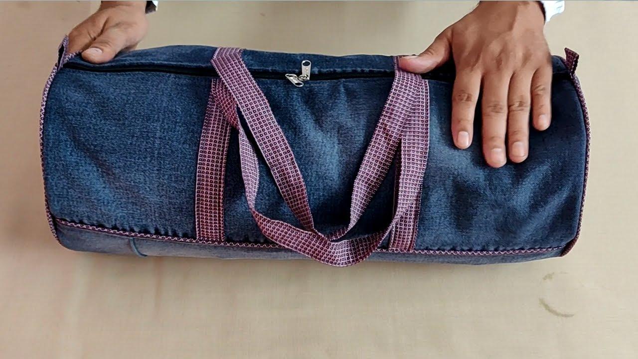 पुरानी जींस से बनाना सीखें सुन्दर ट्रैवल बैग || How To Make Travel Bag From Jeans || Zipper Bag