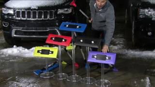 Snow Joe PRO Telescoping Snowbroom & Ice Scraper w/ 4 LED Lights on QVC