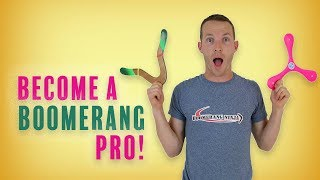 "BEST  ""HOW TO THROW A BOOMERANG"" TUTORIAL"