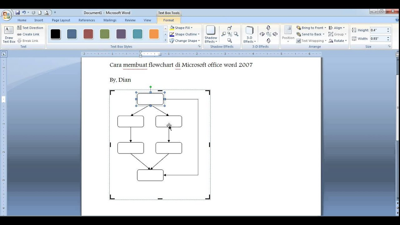 microsoft word flowchart