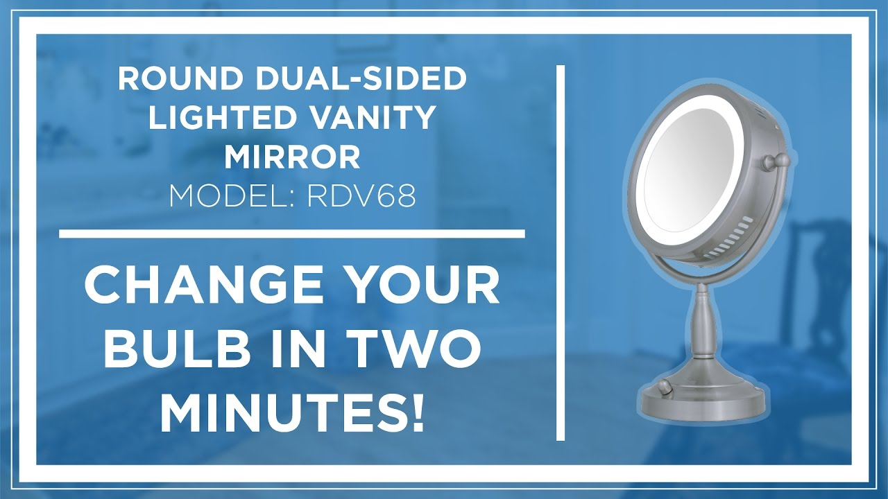 How To Zadro Z Beauty Lighted Vanity Mirror Bulb