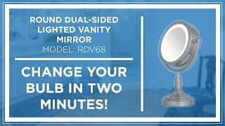 HOW TO: Zadro Z'Beauty Lighted Vanity Mirror Bulb Replacement