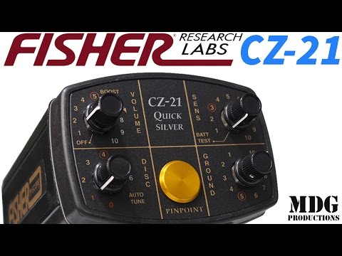 Fisher Labs CZ-21 Quicksilver Underwater Metal Detector Un-boxing/Overview